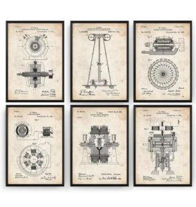 Tesla Patent Prints
